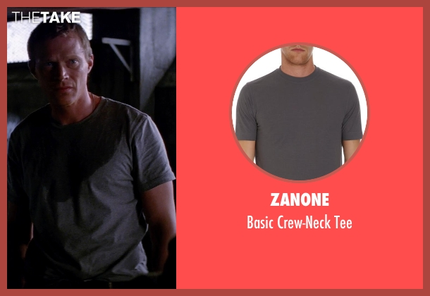 ZANONE gray tee from Transcendence seen with Paul Bettany (Max Waters)