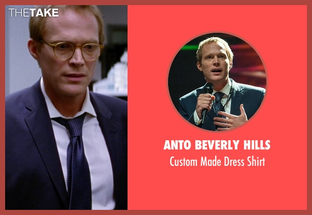 Anto Beverly Hills white shirt from Transcendence seen with Paul Bettany (Max Waters)