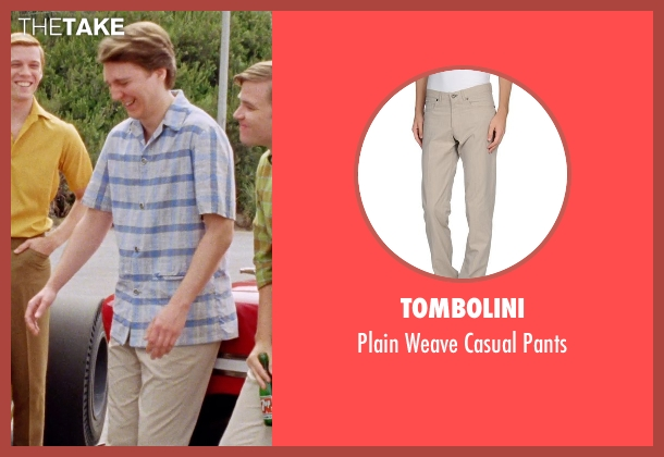 Tombolini beige pants from Love & Mercy seen with Paul Dano (Brian Wilson)