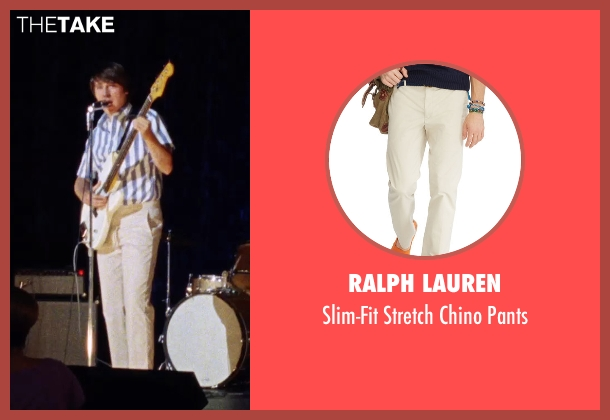 Ralph Lauren beige pants from Love & Mercy seen with Paul Dano (Brian Wilson)