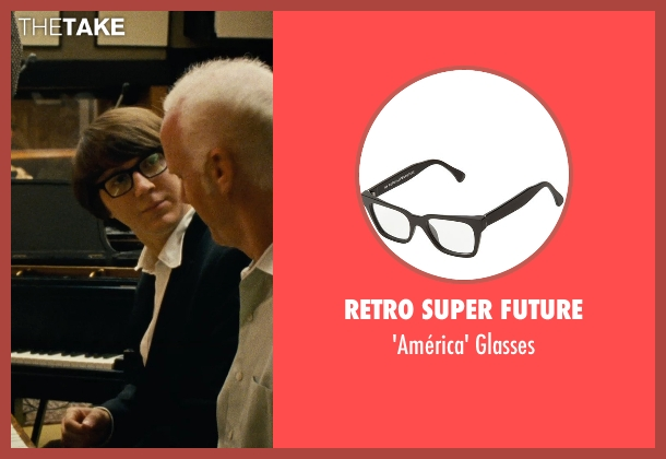 Retro Super Future black glasses from Love & Mercy seen with Paul Dano (Brian Wilson)