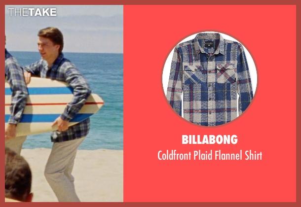 Billabong blue shirt from Love & Mercy seen with Paul Dano (Brian Wilson)