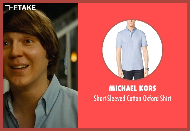 Michael Kors blue shirt from Love & Mercy seen with Paul Dano (Brian Wilson)