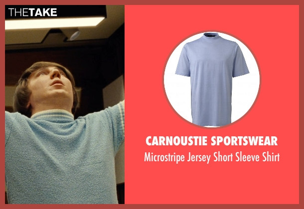 Carnoustie Sportswear blue shirt from Love & Mercy seen with Paul Dano (Brian Wilson)