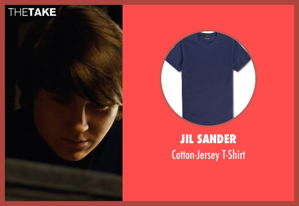 Jil Sander blue t-shirt from Love & Mercy seen with Paul Dano (Brian Wilson)