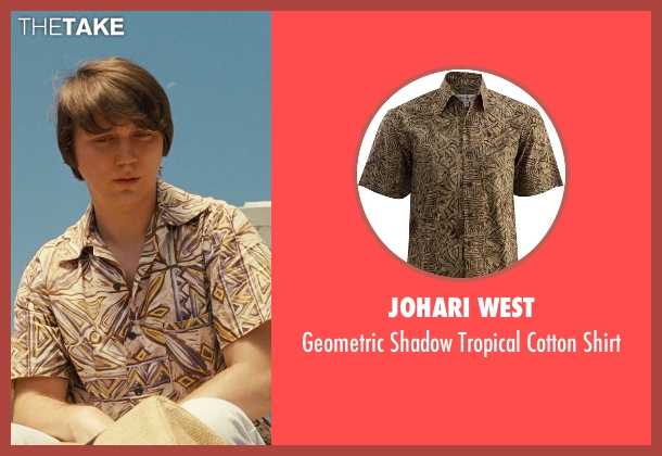 Johari West brown shirt from Love & Mercy seen with Paul Dano (Brian Wilson)