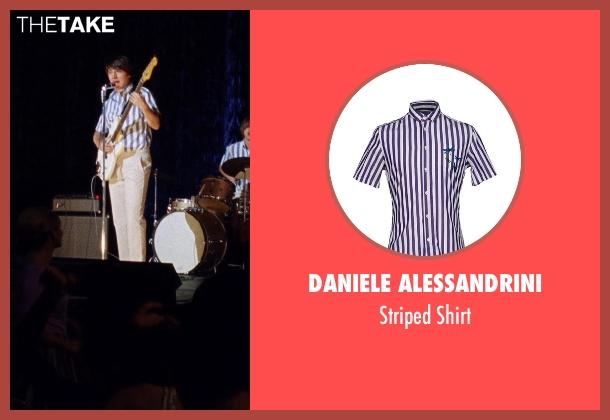 Daniele Alessandrini purple shirt from Love & Mercy seen with Paul Dano (Brian Wilson)