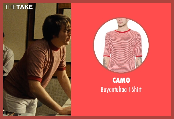 Camo red t-shirt from Love & Mercy seen with Paul Dano (Brian Wilson)