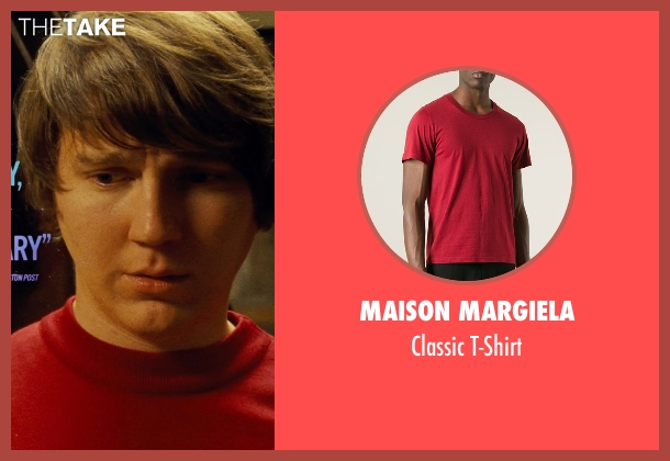 Maison Margiela red t-shirt from Love & Mercy seen with Paul Dano (Brian Wilson)