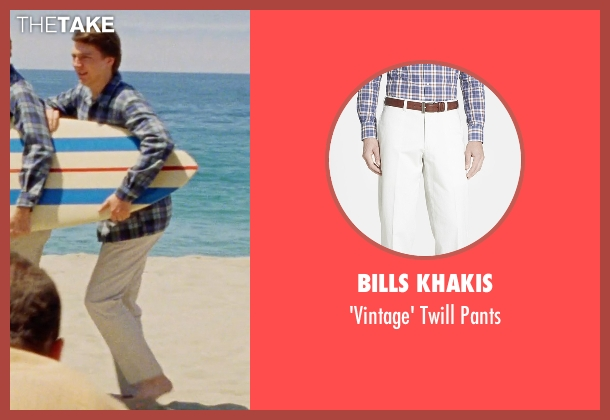Bills Khakis white pants from Love & Mercy seen with Paul Dano (Brian Wilson)