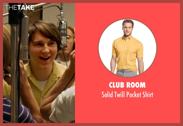 Club Room yellow shirt from Love & Mercy seen with Paul Dano (Brian Wilson)