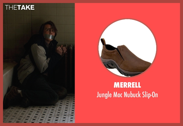 Merrell brown slip-on from Prisoners seen with Paul Dano (Alex Jones)