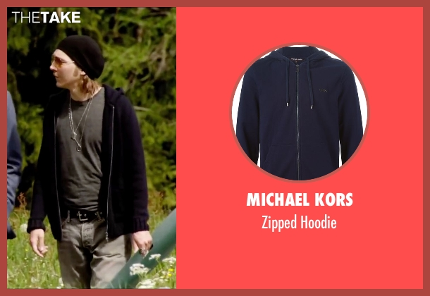 Michael Kors blue hoodie from Youth seen with Paul Dano (Jimmy Tree)