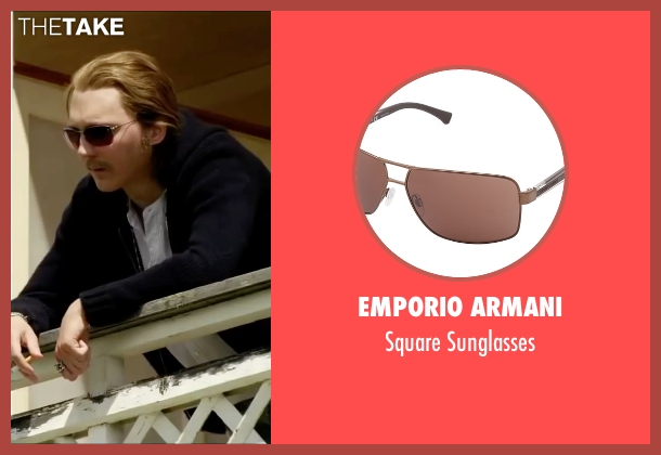 Emporio Armani brown sunglasses from Youth seen with Paul Dano (Jimmy Tree)
