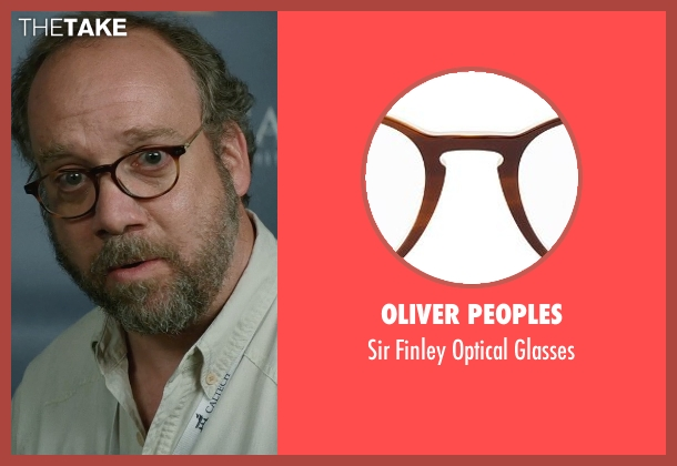 Oliver Peoples brown glasses from San Andreas seen with Paul Giamatti (Unknown Character)