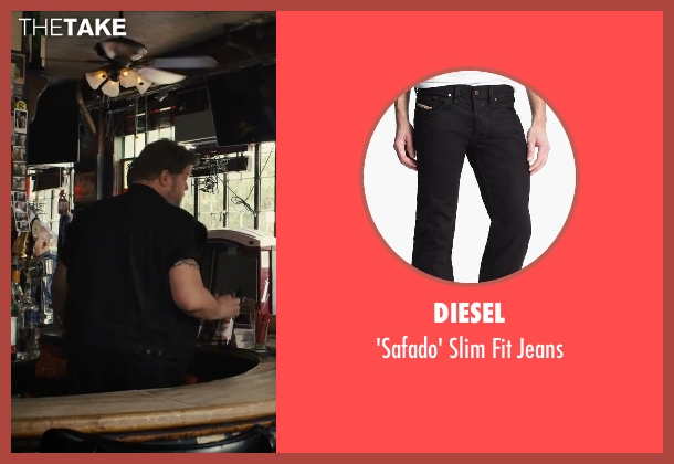 Diesel black jeans from Begin Again seen with Paul Romero (Bartender)