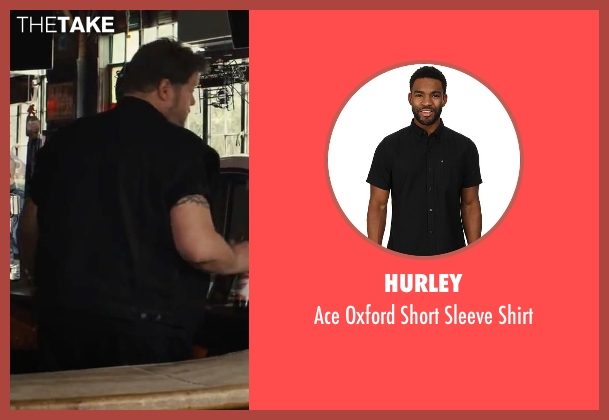 Hurley black shirt from Begin Again seen with Paul Romero (Bartender)