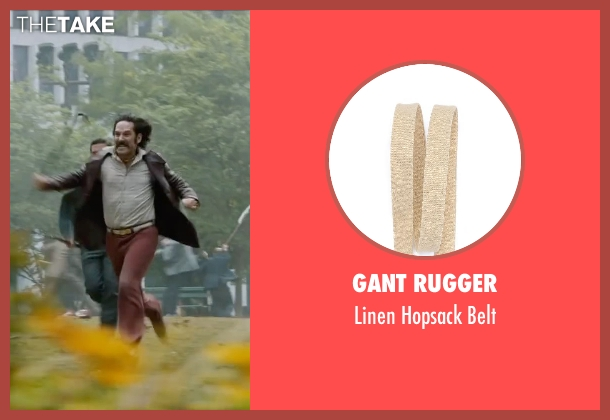Gant Rugger beige belt from Anchorman 2: The Legend Continues seen with Paul Rudd (Brian Fantana)