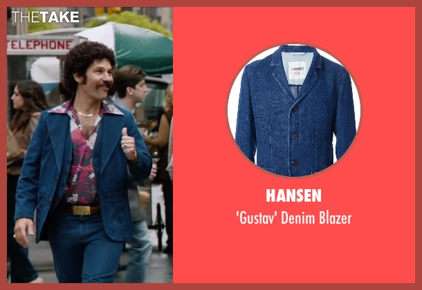 Hansen blue blazer from Anchorman 2: The Legend Continues seen with Paul Rudd (Brian Fantana)