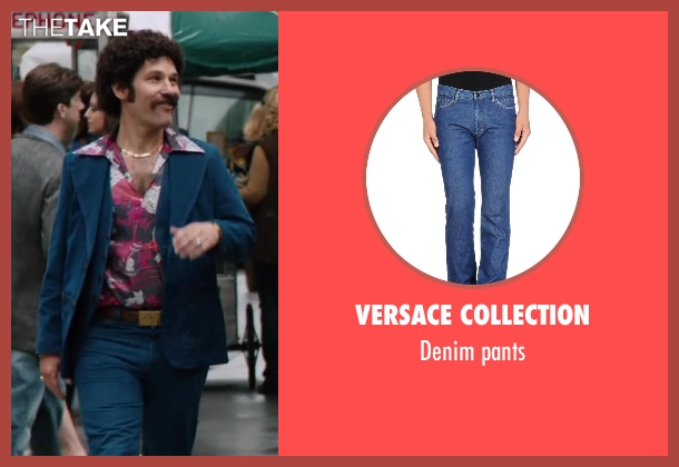 Versace Collection blue pants from Anchorman 2: The Legend Continues seen with Paul Rudd (Brian Fantana)