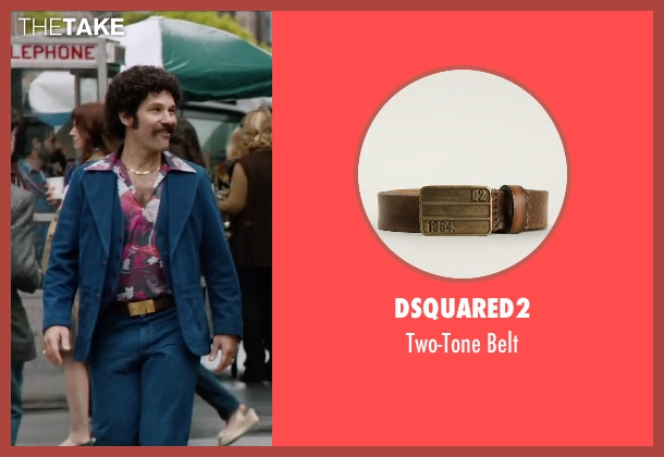 Dsquared2 brown belt from Anchorman 2: The Legend Continues seen with Paul Rudd (Brian Fantana)