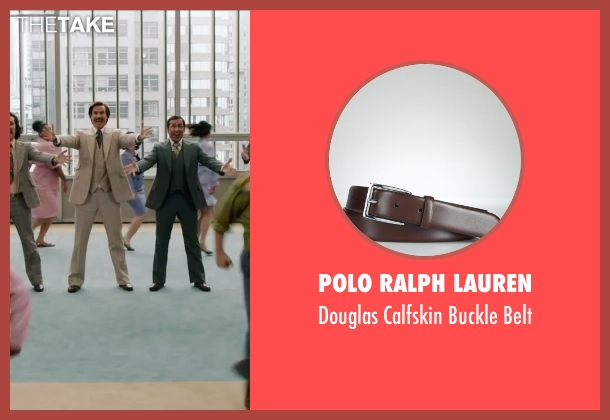Polo Ralph Lauren brown belt from Anchorman 2: The Legend Continues seen with Paul Rudd (Brian Fantana)