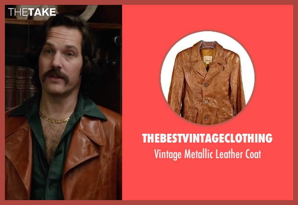 Thebestvintageclothing brown coat from Anchorman 2: The Legend Continues seen with Paul Rudd (Brian Fantana)
