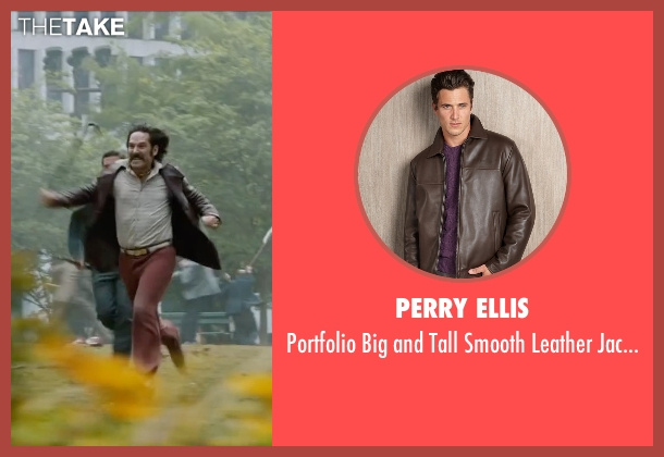 Perry Ellis brown jacket from Anchorman 2: The Legend Continues seen with Paul Rudd (Brian Fantana)