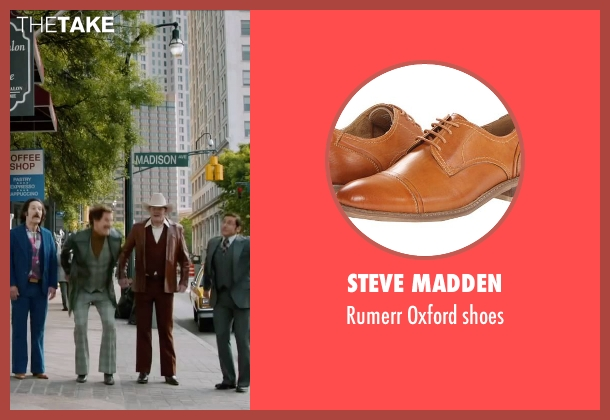 Steve Madden brown shoes from Anchorman 2: The Legend Continues seen with Paul Rudd (Brian Fantana)