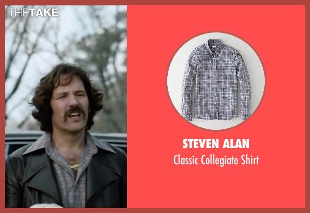 Steven Alan gray shirt from Anchorman 2: The Legend Continues seen with Paul Rudd (Brian Fantana)