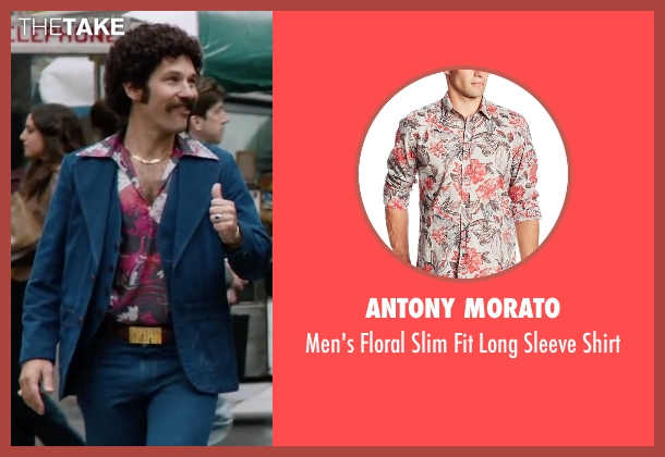 Antony Morato red shirt from Anchorman 2: The Legend Continues seen with Paul Rudd (Brian Fantana)