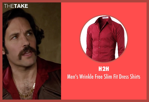 H2H red shirts from Anchorman 2: The Legend Continues seen with Paul Rudd (Brian Fantana)