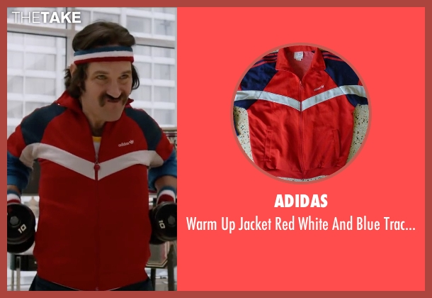 Adidas red style from Anchorman 2: The Legend Continues seen with Paul Rudd (Brian Fantana)
