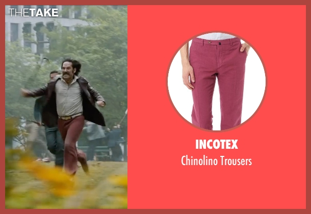 Incotex red trousers from Anchorman 2: The Legend Continues seen with Paul Rudd (Brian Fantana)
