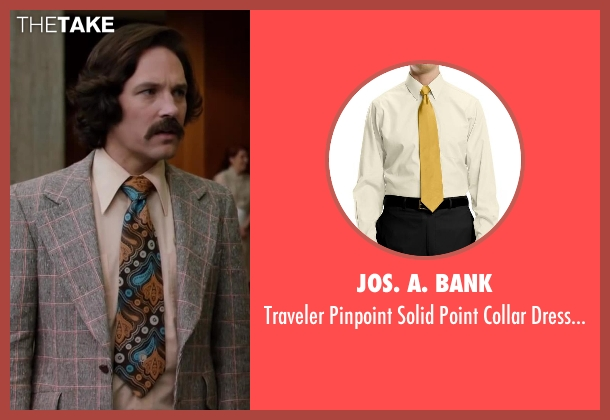 Jos. A. Bank yellow shirt from Anchorman 2: The Legend Continues seen with Paul Rudd (Brian Fantana)