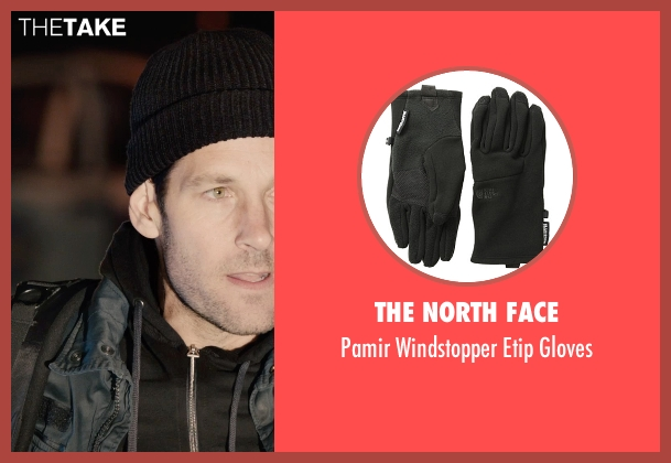 The North Face black gloves from Ant-Man seen with Paul Rudd (Scott Lang / Ant-Man)