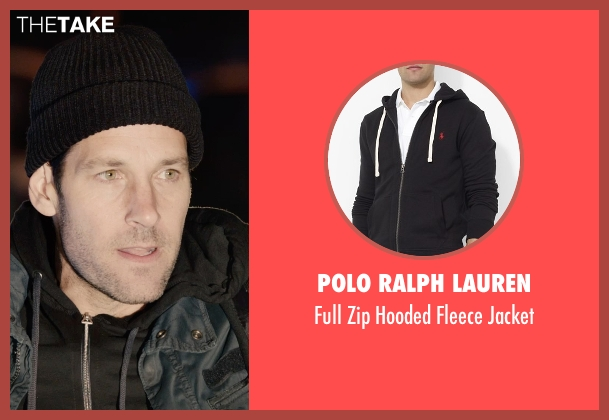 Polo Ralph Lauren black jacket from Ant-Man seen with Paul Rudd (Scott Lang / Ant-Man)