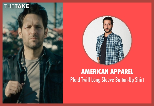 American Apparel blue shirt from Ant-Man seen with Paul Rudd (Scott Lang / Ant-Man)