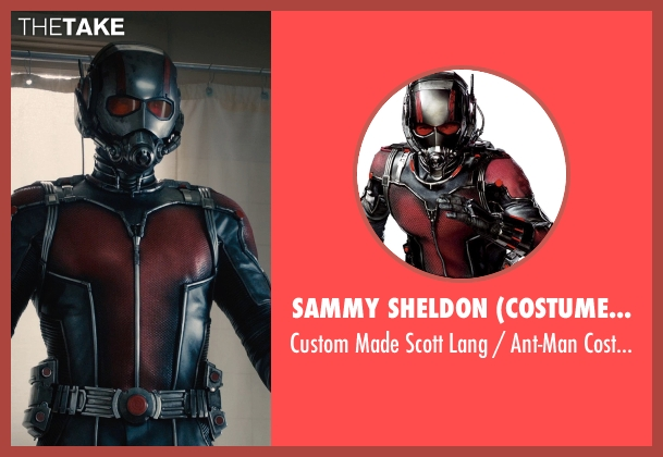 Sammy Sheldon (Costume Designer) costume from Ant-Man seen with Paul Rudd (Scott Lang / Ant-Man)