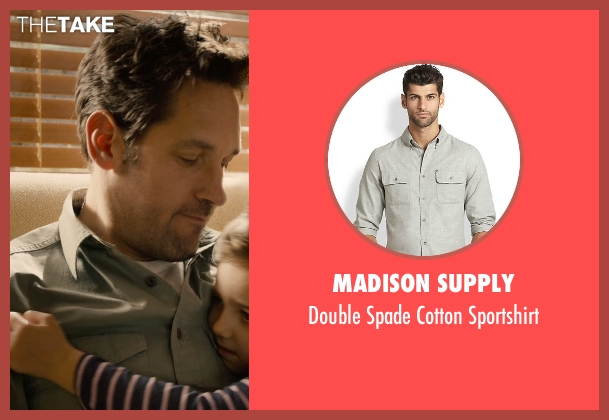 Madison Supply gray sportshirt from Ant-Man seen with Paul Rudd (Scott Lang / Ant-Man)