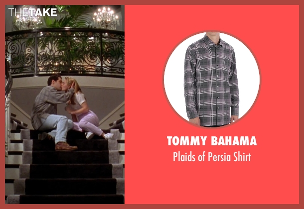 Tommy Bahama gray shirt from Clueless seen with Paul Rudd (Josh)