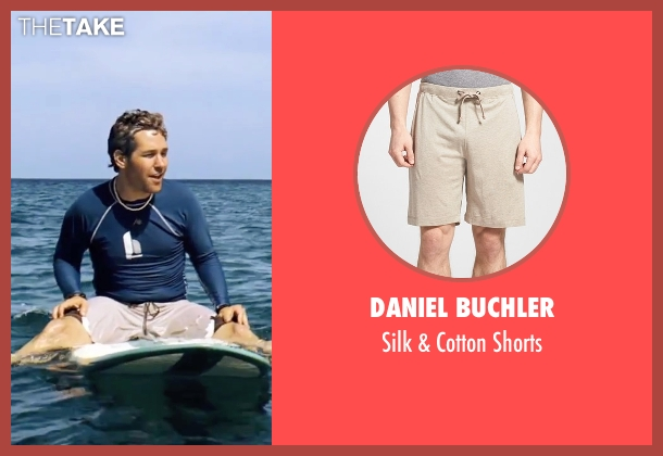 Daniel Buchler beige shorts from Forgetting Sarah Marshall seen with Paul Rudd (Chuck)