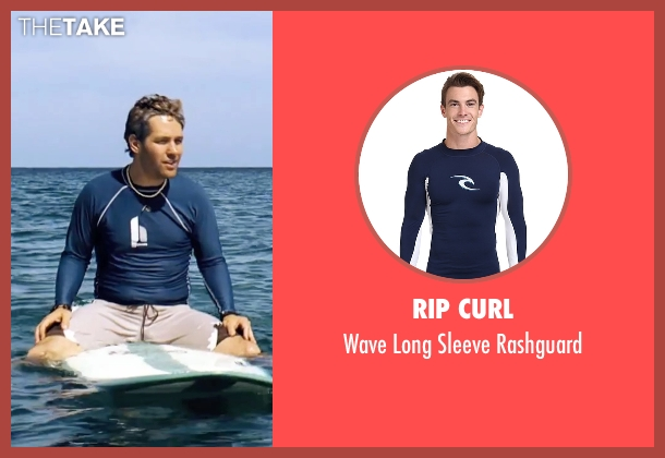 Rip Curl  blue rashguard from Forgetting Sarah Marshall seen with Paul Rudd (Chuck)