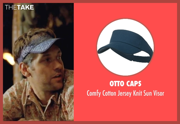 Otto Caps blue visor from Forgetting Sarah Marshall seen with Paul Rudd (Chuck)