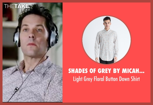 Shades Of Grey By Micah Cohen shirt from Knocked Up seen with Paul Rudd (Pete)