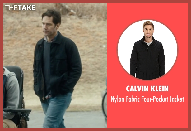 Calvin Klein black jacket from The Fundamentals of Caring seen with Paul Rudd (Ben)
