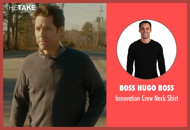 Boss Hugo Boss black shirt from The Fundamentals of Caring seen with Paul Rudd (Ben)