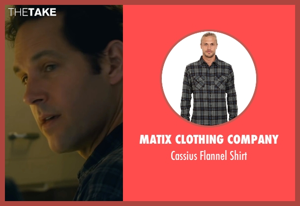 Matix Clothing Company black shirt from The Fundamentals of Caring seen with Paul Rudd (Ben)
