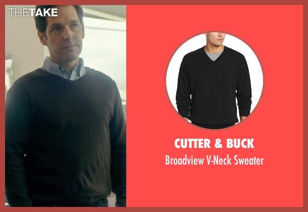 Cutter & Buck black sweater from The Fundamentals of Caring seen with Paul Rudd (Ben)