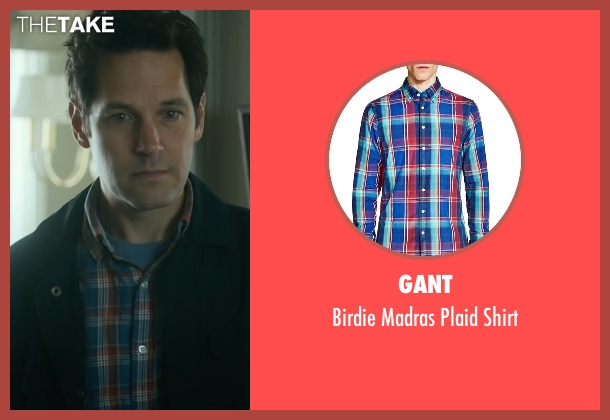 Gant blue shirt from The Fundamentals of Caring seen with Paul Rudd (Ben)